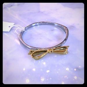 Kate Spade♠️ 2 toned silver/gold bowtie bracelet !